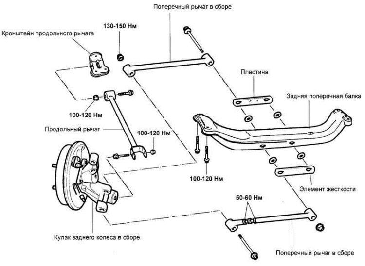 Продольный рычаг Hyundai Matrix