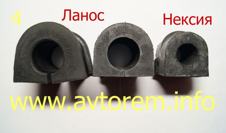 втулки стабилизатора нексия и ланос отличия