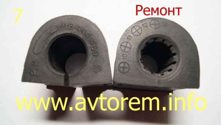 Ремонтные втулки переднего стабилизатора Ланос