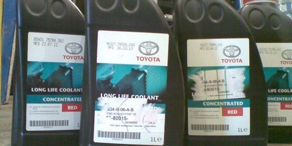 Жидкость охлаждения Тойота Королла