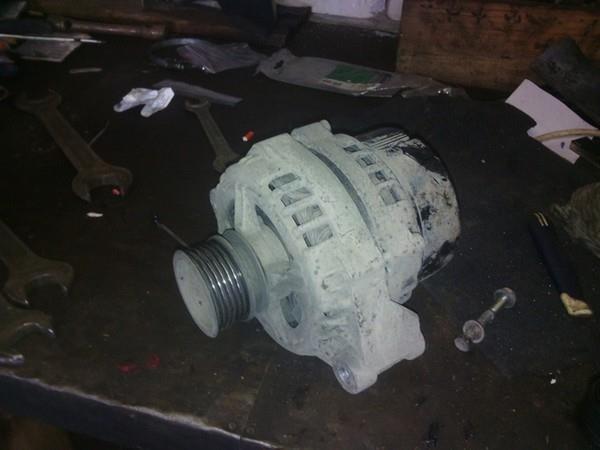 Установка генератора 120А на Приору с кондиционером