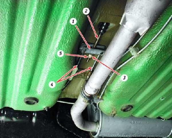 Регулировка ручного тормоза ВАЗ 1111 (ОКА)