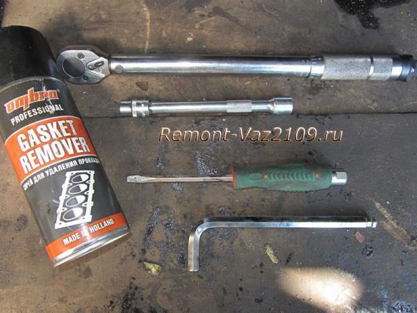 инструменты для замены прокладки ГБЦ на ВАЗ 2109-2108