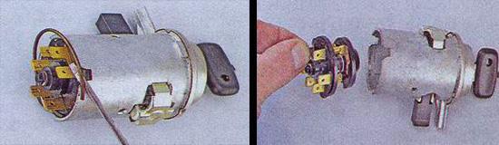 контактная группа замка зажигания ваз 2107