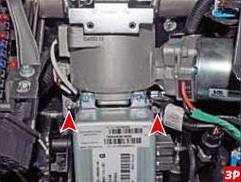 Размещение гаек переднего крепления рулевой колонки Лада Гранта (ВАЗ 2190)