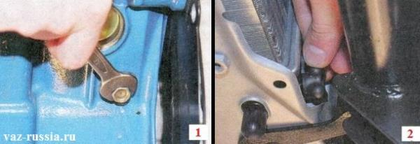 Пробки отвернув которые, сольётся вся охлаждающая жидкость из системы охлаждения двигателя автомобиля