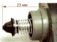 обратите внимание на расстояние L между концом иглы клапана и монтажным фланцем