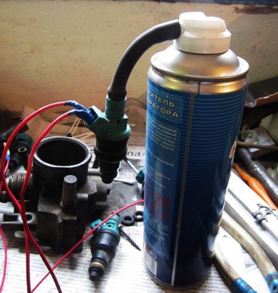 Самодельное устройство для промывки форсунок