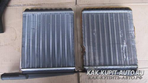 Старый и новый радиатор печки Калина