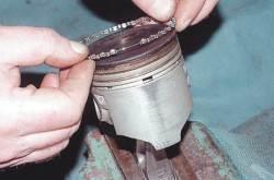 Установка колец.Замена поршневых колец