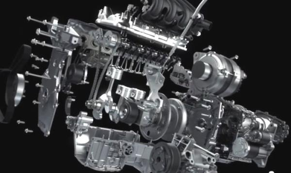 Lada двигатель HR16DE