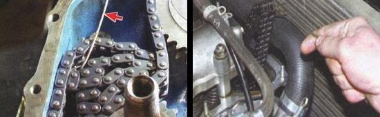 Снятие и установка новой цепи привода распределительного вала ваз 2105
