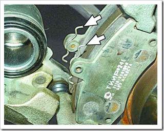 установка тормозных колодок на передние колеса ваз 2110