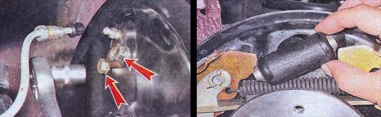замена заднего тормозного цилиндра ваз 2107
