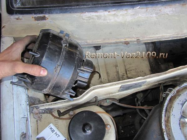 как снять моторчик отопителя на Ваз 2109-2108
