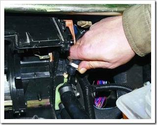 как снять радиатор оотопителя с десяттки