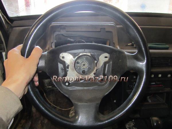 как сбить руль со шлицов на ВАЗ 2109-2108