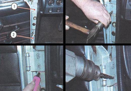 снятие и установка передней двери ваз 2106