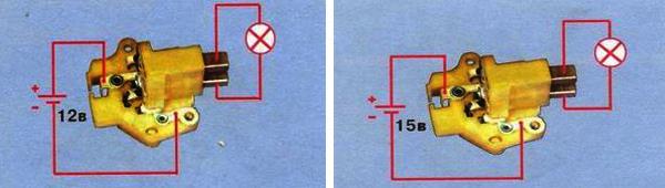 Проверка регулятора напряжения и щеткодержателя генератора 37.3701 на ваз 2109