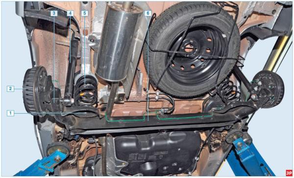 Задняя подвеска Lada Largus