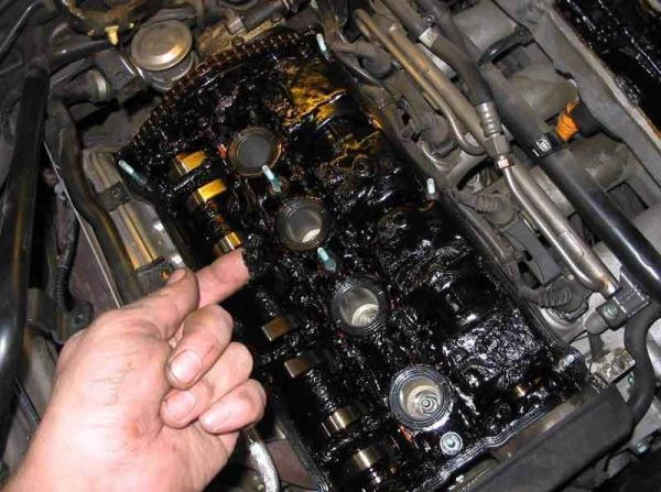 Нагар от масла в двигателе