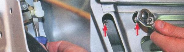 Снятие наружной ручки задней двери Лада Приора