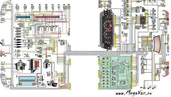 Электропроводка ВАЗ 2107 карбюратор