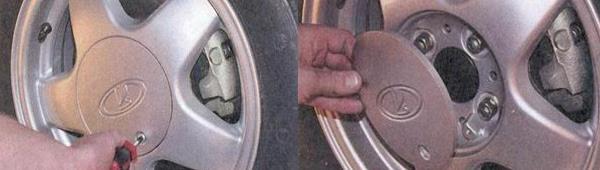 Снятие приводов передних колес Лада Приора