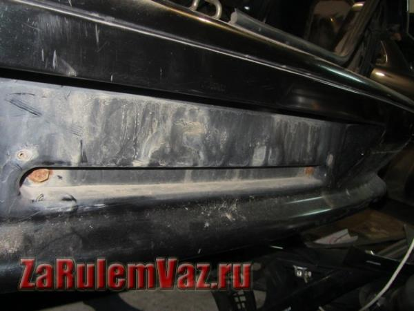 крепления заднего бампера на ВАЗ 2115