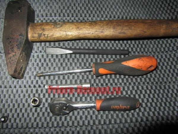 инструмент для замены замка зажигания на Приоре