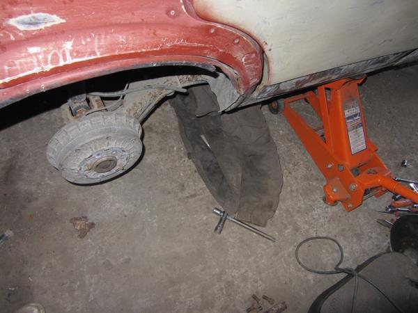 снятие заднего колеса на ВАЗ 2114-2115