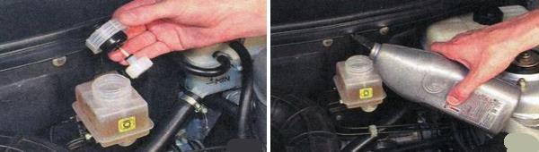 Доливка тормозной жидкости ваз 2170