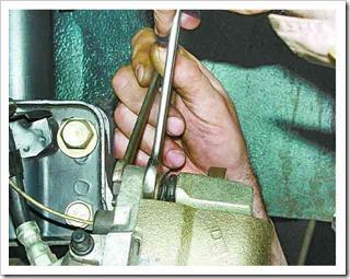 ремонт тормозых колодок передних колес
