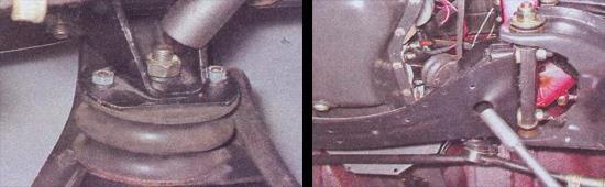 замена передних опор двигателя ваз 2107