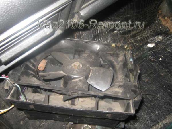 снятие вентилятора печки на ВАЗ 2106 и его замена