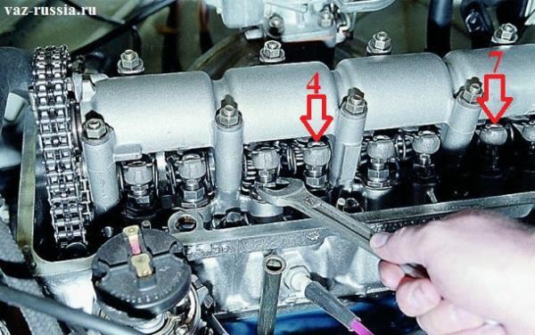 Регулировка 4 и 7 клапана