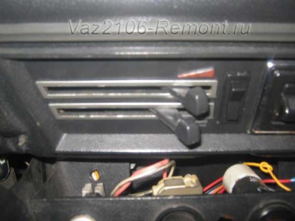 открыть полностью кран печки на ВАЗ 2106