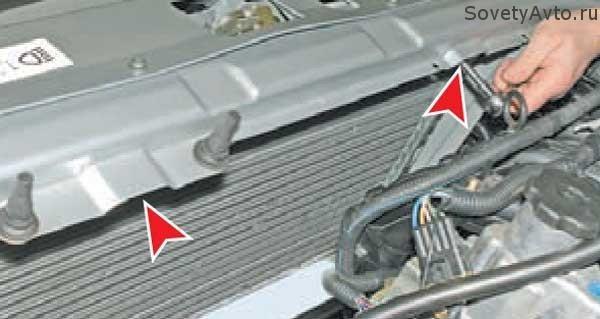 замена радиатора на Приоре