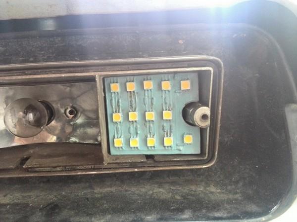 Передние светодиодные габариты. Технология ЛУТ для НИВЫ