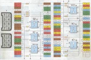 Схема монтажного блока ВАЗ 2104-05