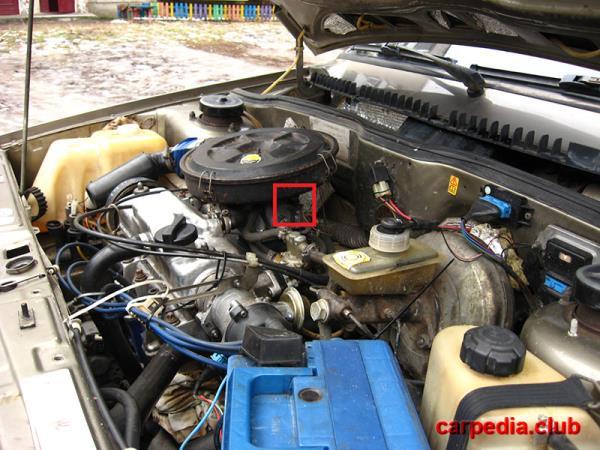 Расположение электроного клапана ВАЗ 21093