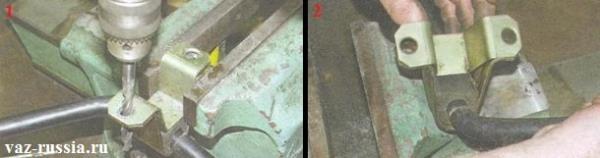 Высверливание отверстий и разъединение между собой наружной и внутренний скобы