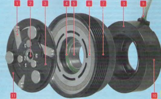 Электромагнитная муфта привода компрессора Lada Largus