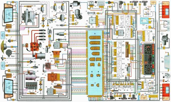 Электросхема автомобиля ВАЗ 2109