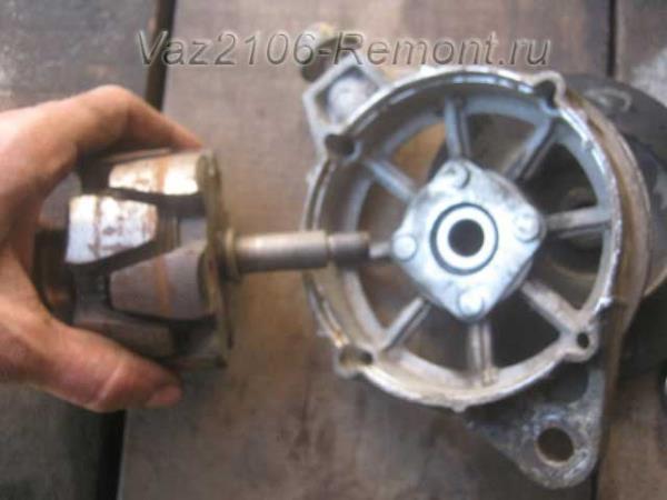 замена ротора генератора на ВАЗ 2106