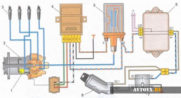 Схема зажигания ВАЗ девятой модели