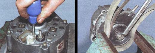 ремонтируем генератор ваз 2106 разборка и сборка