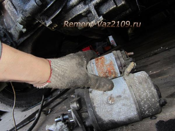 как снять стартер на ВАЗ 2109-2108