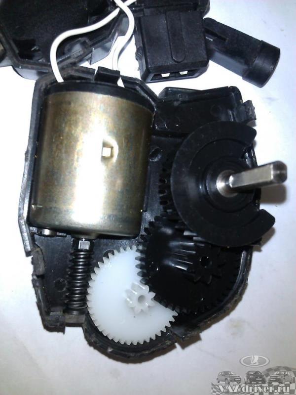 фото разобранного моторедуктора печки ваз-2110, ваз-2111 и ваз-2112