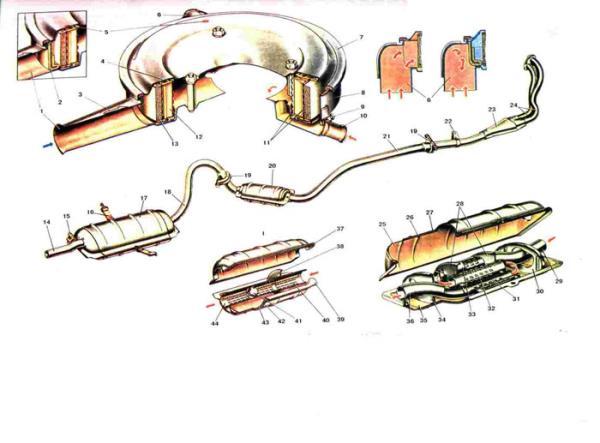 Схема воздушного фильтра Ваз 2101/2102